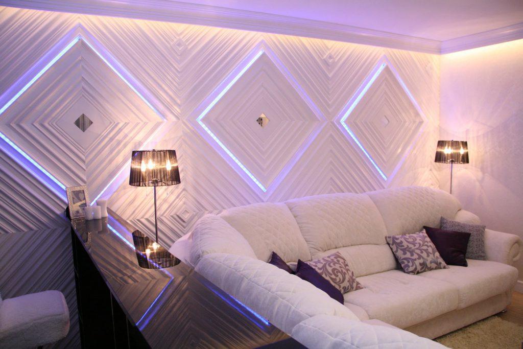 Светодиодная подсветка стен