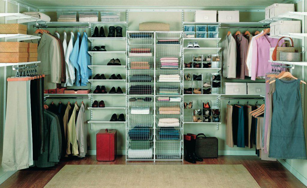 Модульная открытая гардеробная система