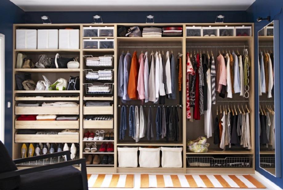 Внутреннее наполнение гардеробного шкафа