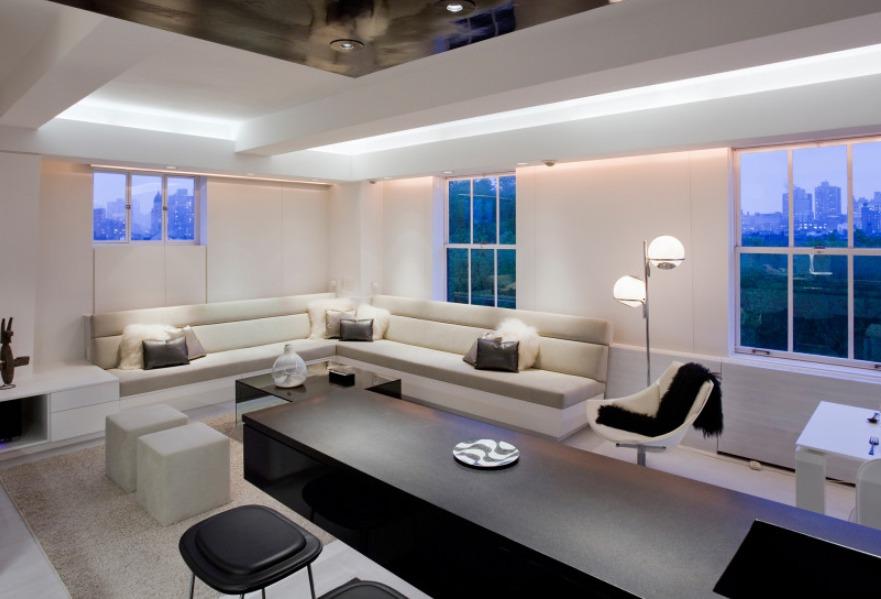 Светодиодное освещение в гостиной