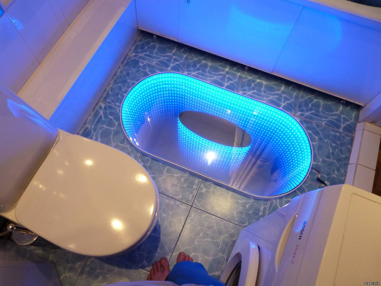 Подсветка воды в ванной своими руками