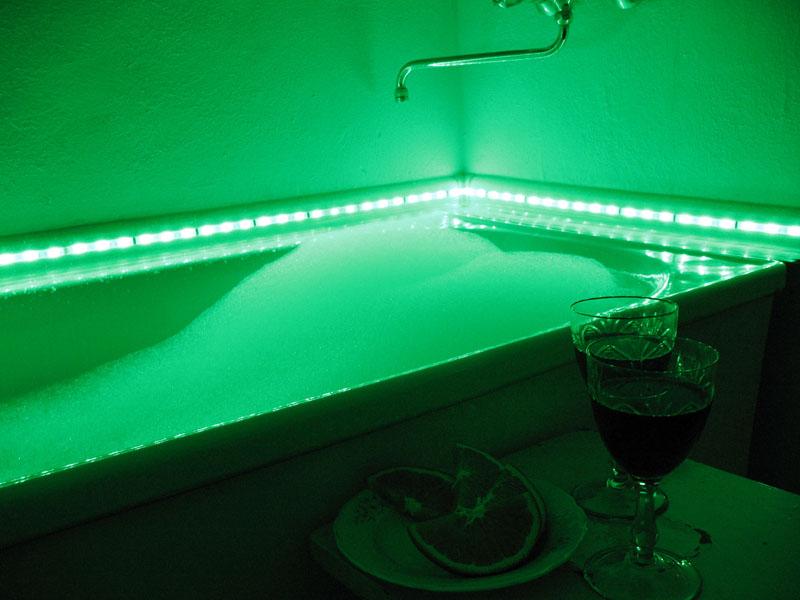 светодиодная лента в ванной комнате