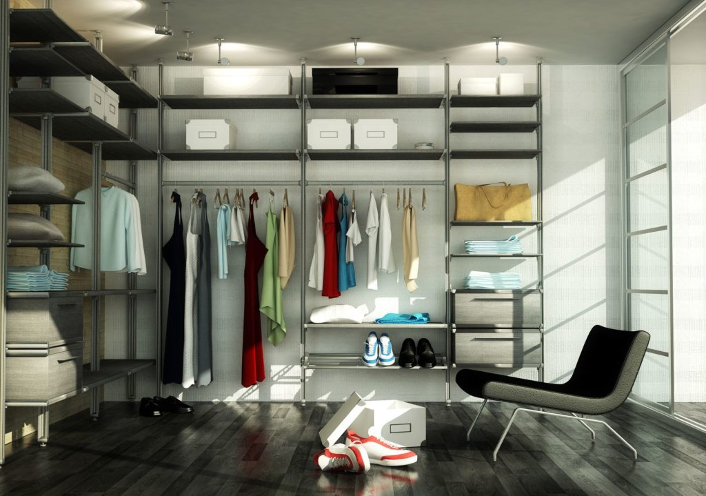 Каркасный металлический гардеробный шкаф
