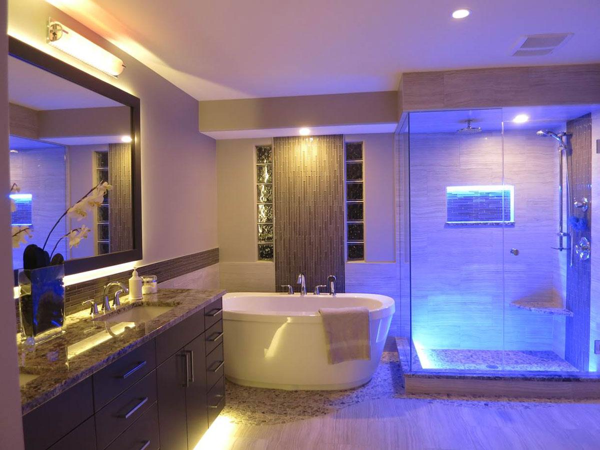 Как сделать подсветку ниши в ванной