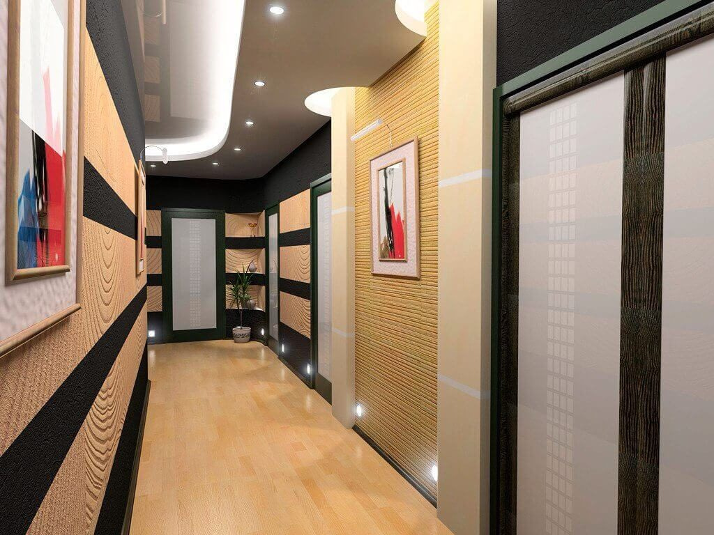 Освещение в длинном коридоре