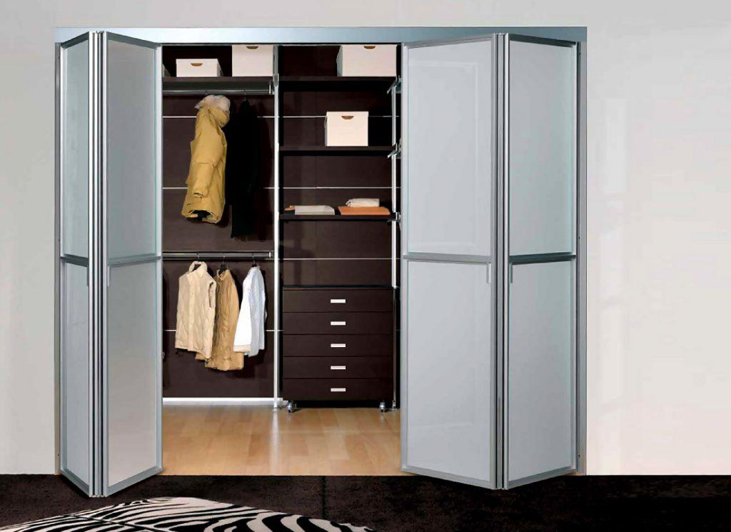 раздвижные двери книжка для гардеробной