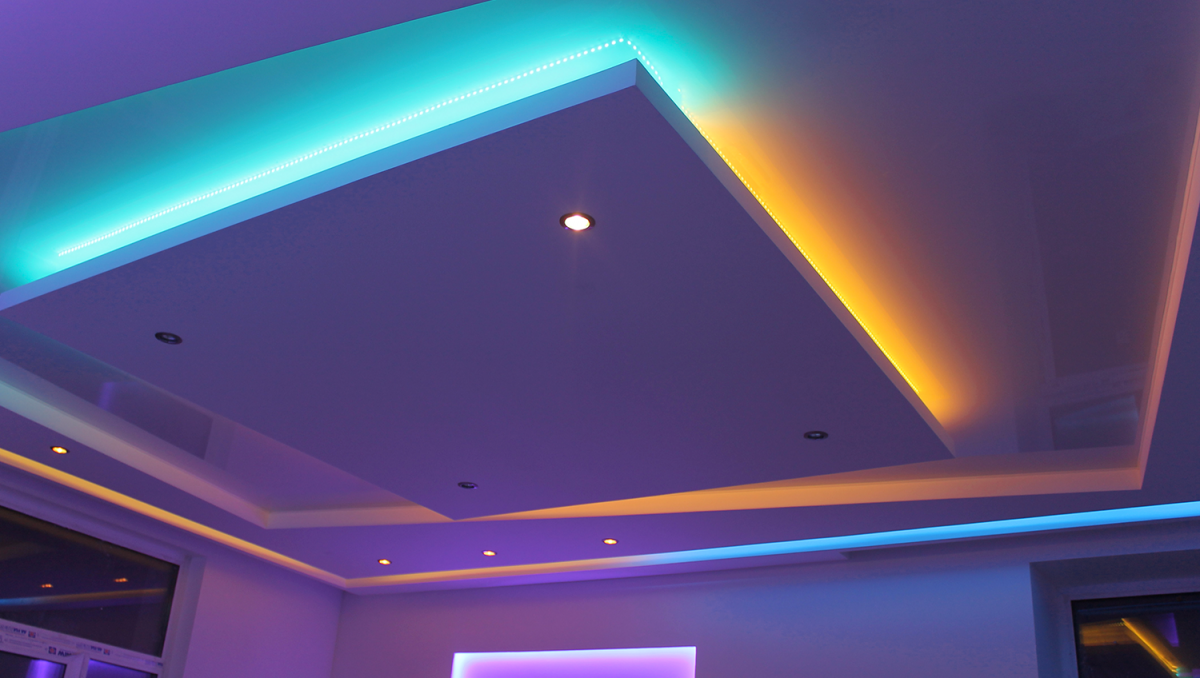 Потолок с скрытой подсветкой своими руками