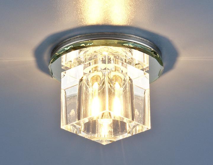 Точечный светильник ниже уровня потолка