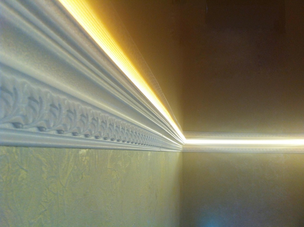 Евроремонт. Подвесной потолок с подсветкой 58