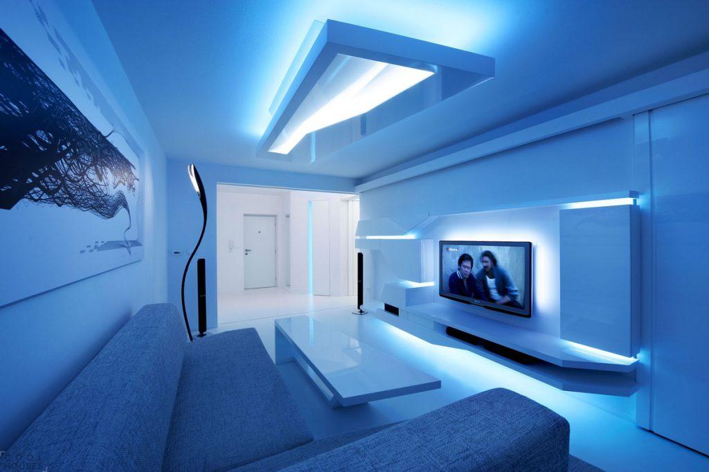 Светодиодное освещение в интерьере квартиры