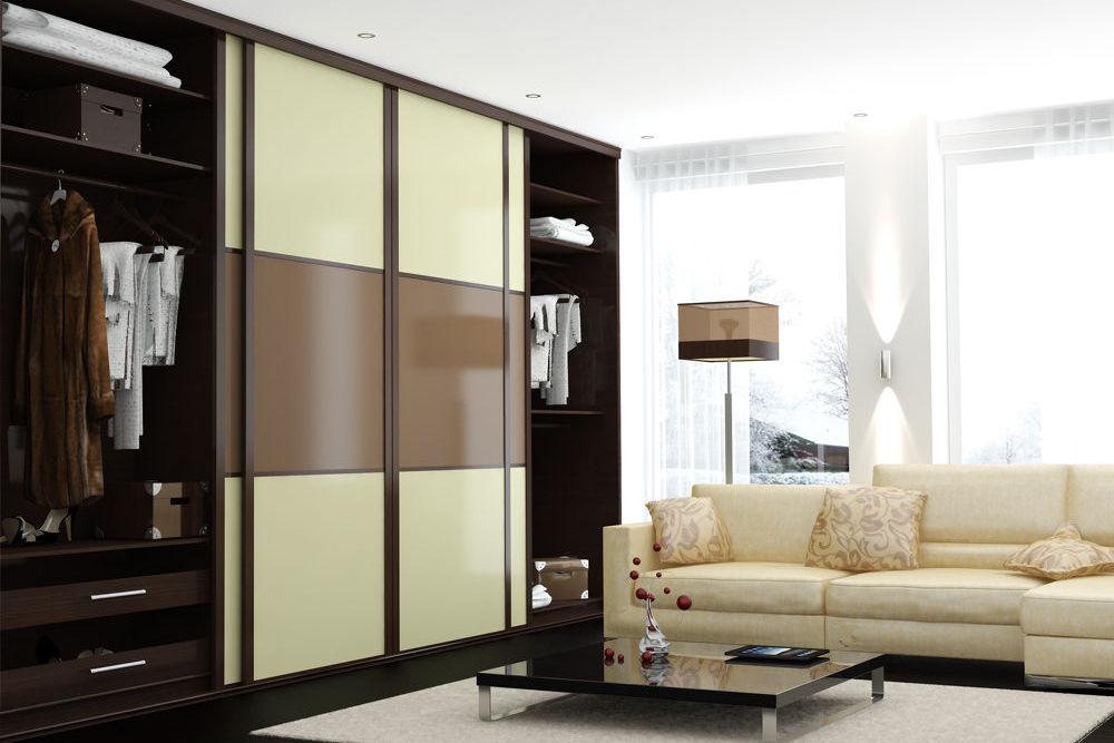 Шкаф-гардеробная в гостиной