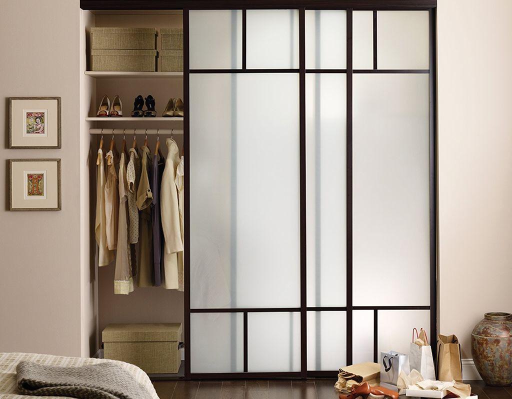 Раздвижные двери для встроенной в нише гардеробной