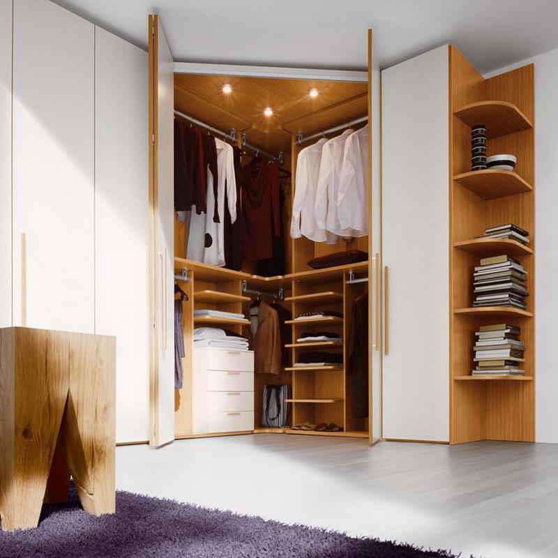 Угловой гардеробный шкаф