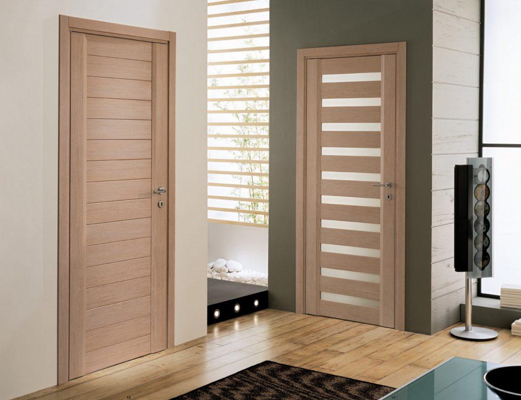 Двери бежевого цвета в интерьере