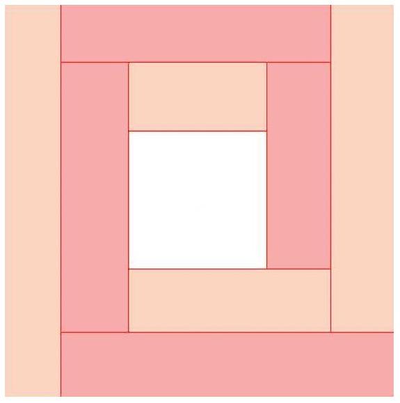 Схема пэчворк американский квадрат
