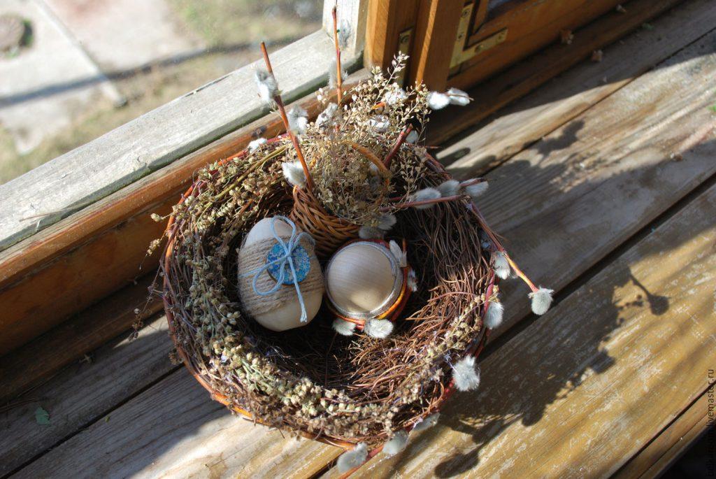 Гнездо из веточек своими руками