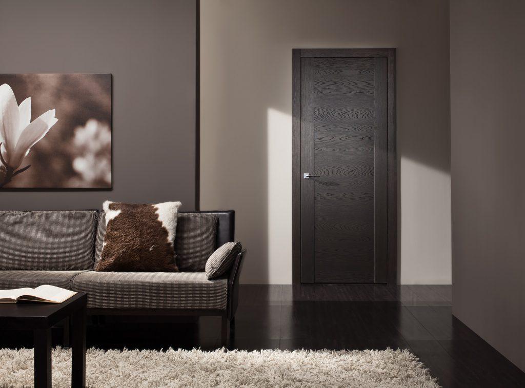 Темные двери в интерьере