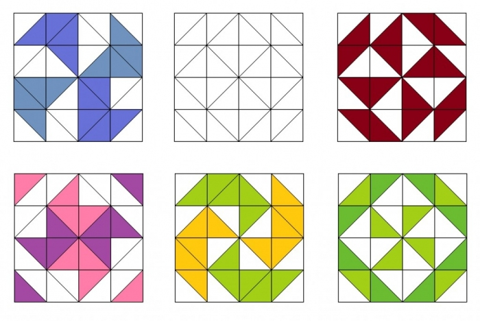 Схемы пэчворк из треугольников