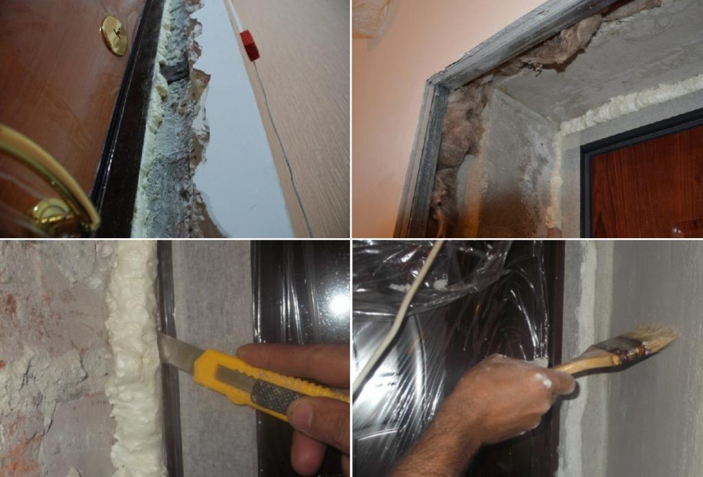 Подготовка дверных откосов к отделке