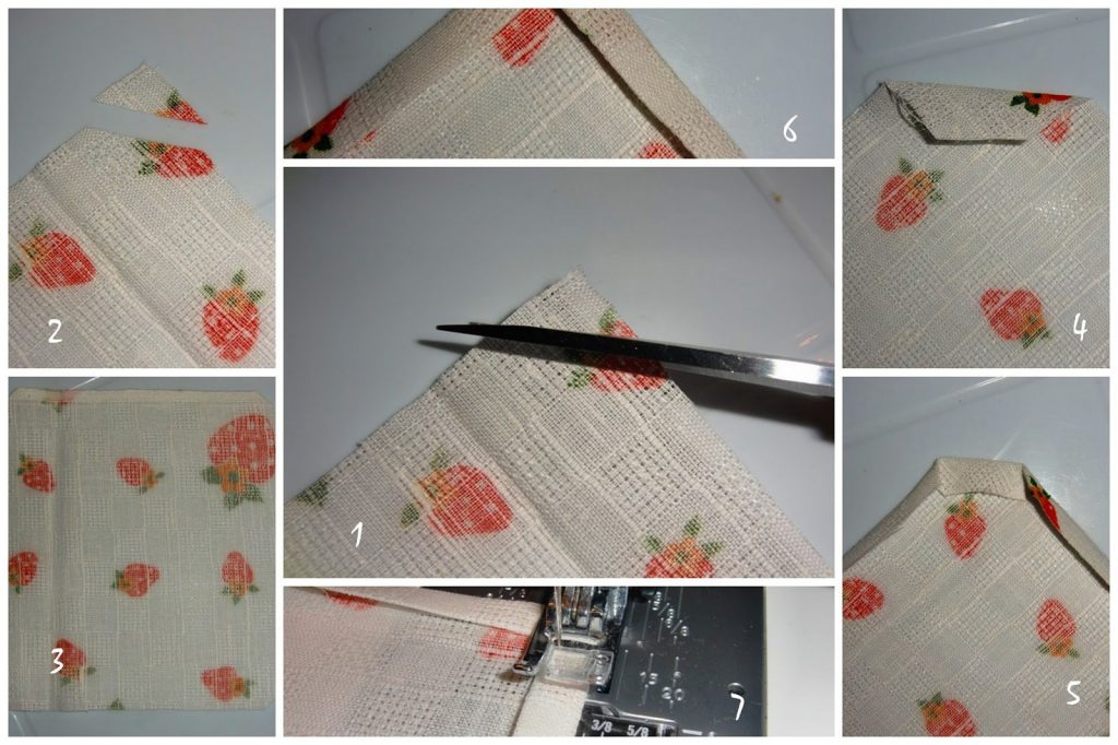 Как сшить салфетку на стол из ткани