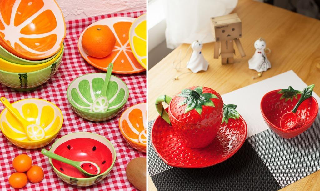 Тарелки в виде фруктов