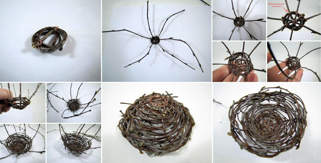 Как сделать гнездо из веток своими руками
