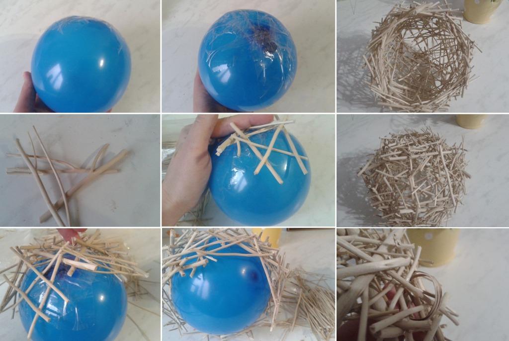 Гнездо из веток своими руками