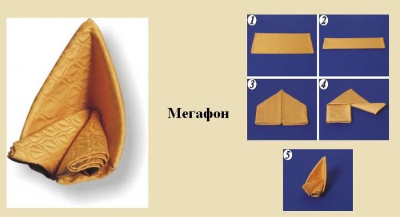 Как сложить салфетку мегафон