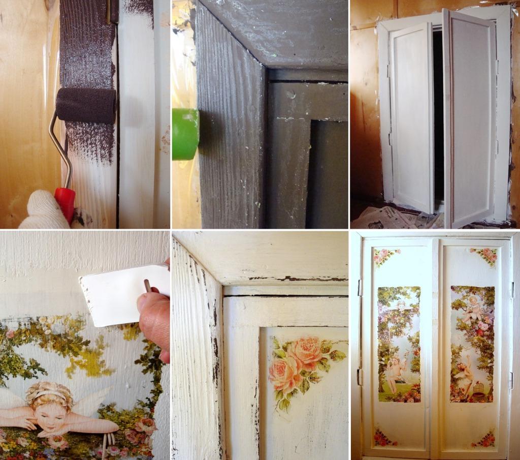 Декор двери в технике декупаж