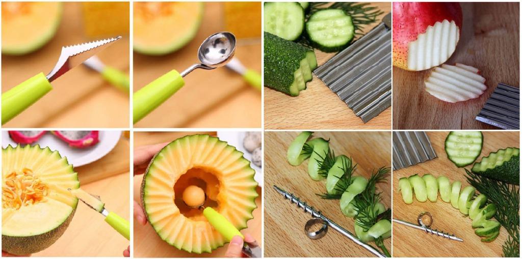 ножи для карвинга из овощей и фруктов