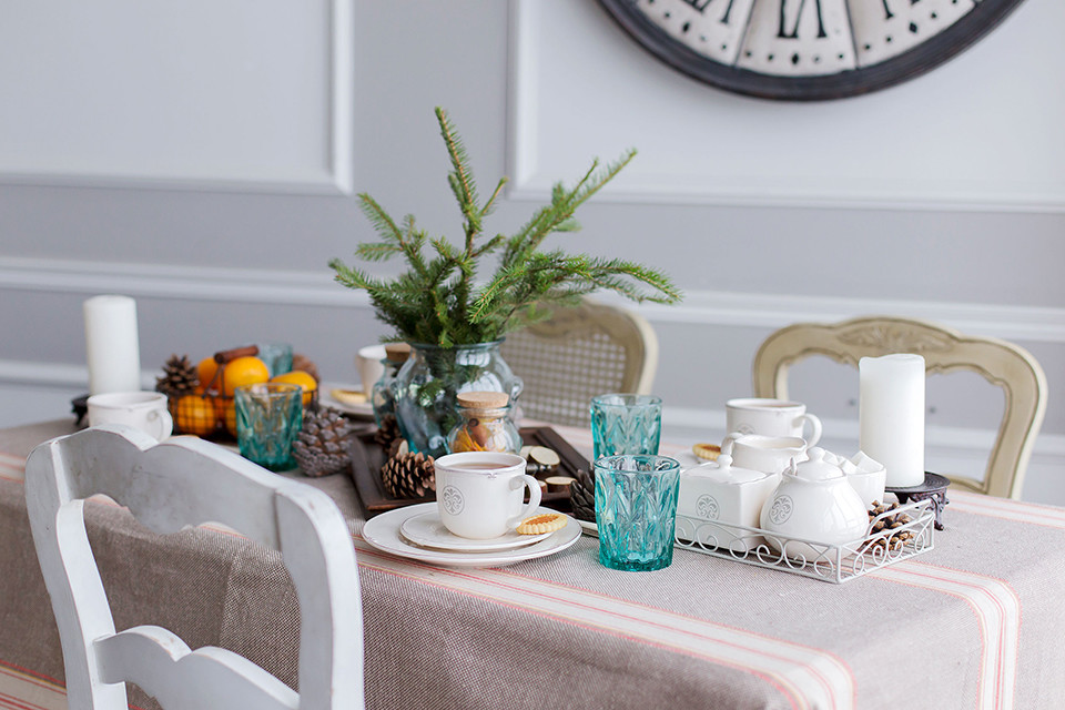 Сервировка стола в скандинавском стиле