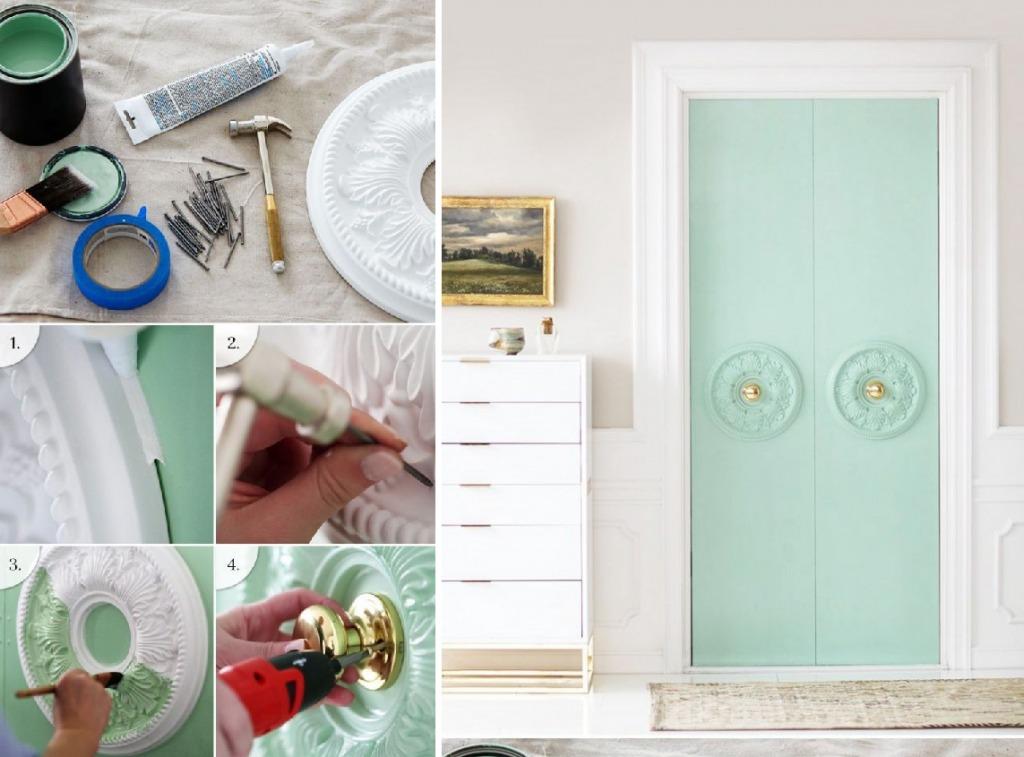 Декорирование межкомнатных дверей – оригинальный подход к украшению интерьера