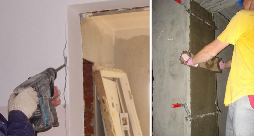 Подготовка и выравнивание дверного проема