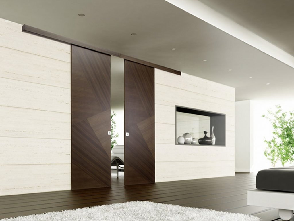 Раздвижные межкомнатные двери в интерьере