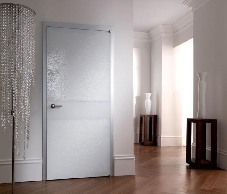 Белые двери в стиле модерн