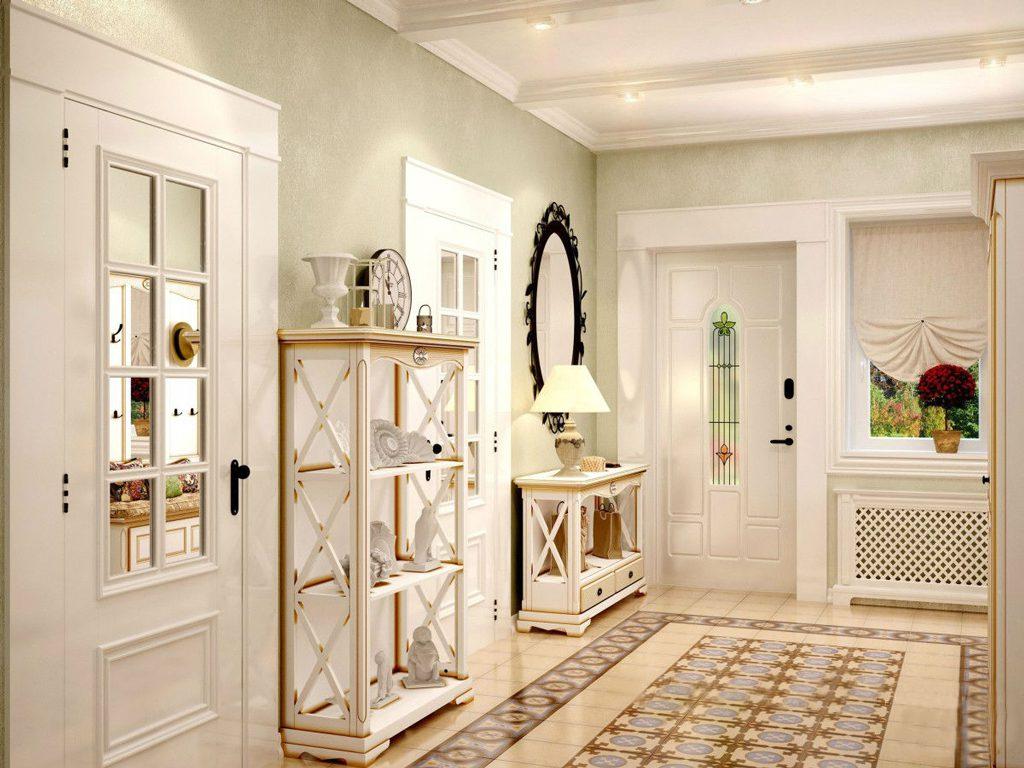 Белые двери во французском стиле