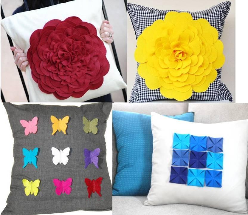 Самодельные декоративные подушки