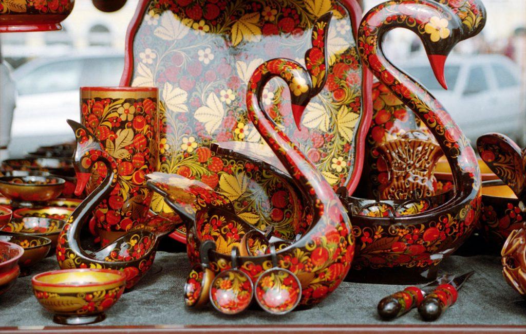 Деревянная посуда в русском стиле