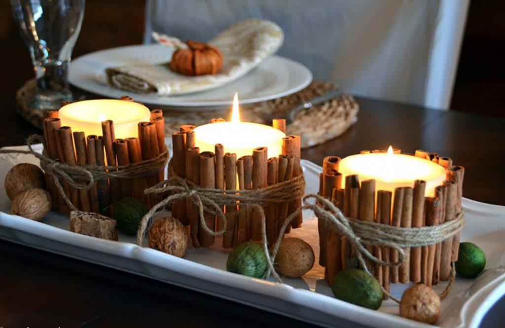 Свечи в скандинавском стиле