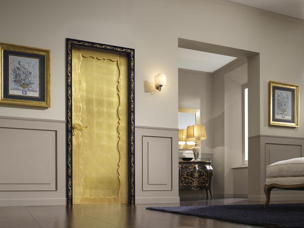 Межкомнатная дверь под золото