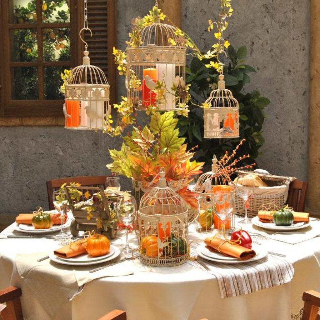 Декор чайного стола в осеннем стиле