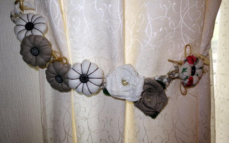 Подвязки на шторы своими руками фото