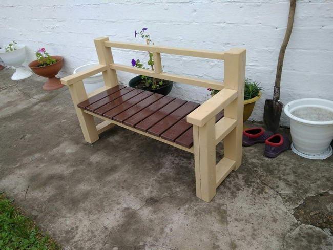 Садовая скамейка на дачу своими руками в фото