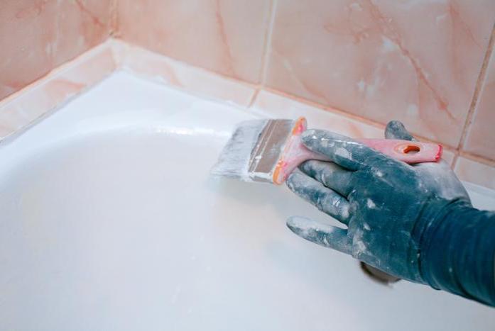 Как восстановить чугунную ванну в фото