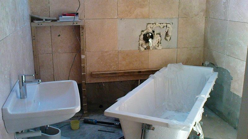 Ремонт в ванной комнате пол своими руками