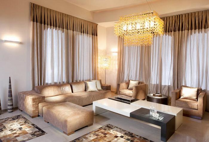 Гардины для гостиной – выбираем идеальный вариант