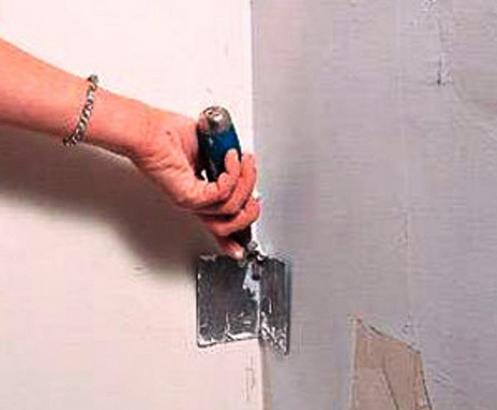 Как сделать внутренние углы на стенах 418