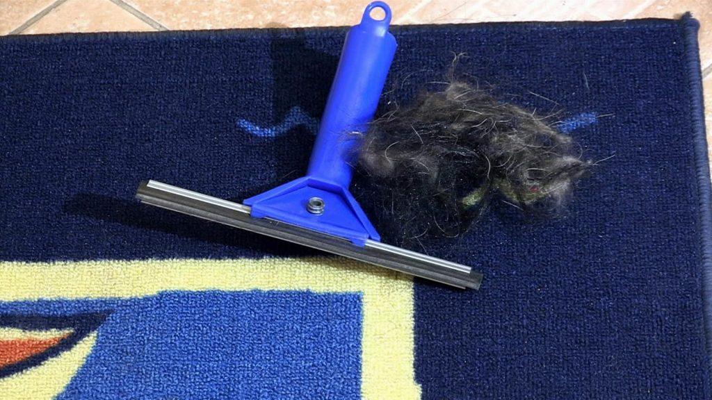 Как избавиться от шерсти на ковре