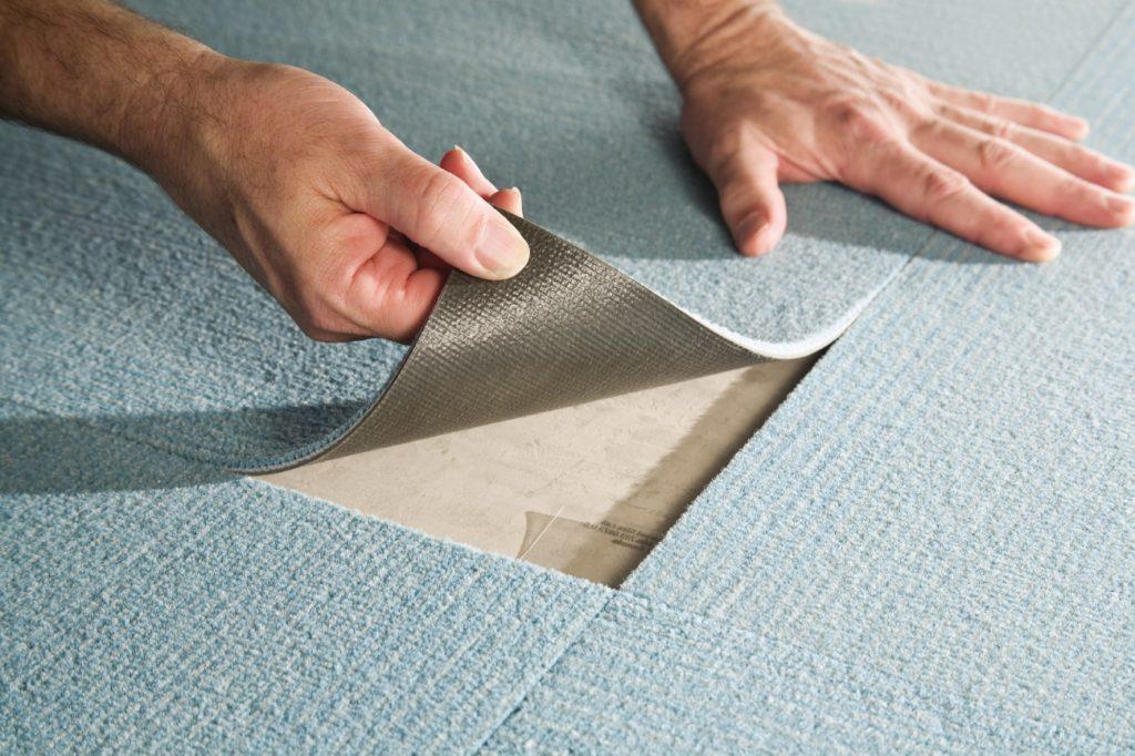 Антискользящая подложка под ковер из резины и войлока