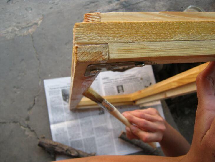 Покраска старых оконных рам своими руками 62